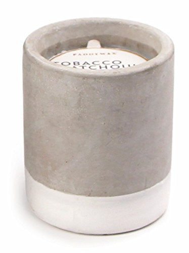 Tobacco & Patchouli Concrete Candle - 3.5oz, Paddywax - Gingerly Witty