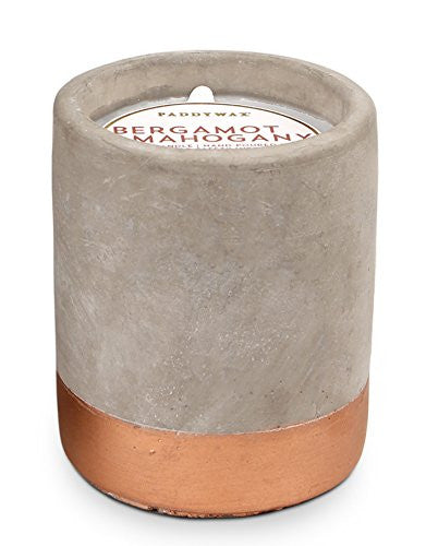 Bergamot & Mahogany Concrete Candle - 3.5oz, Paddywax - Gingerly Witty