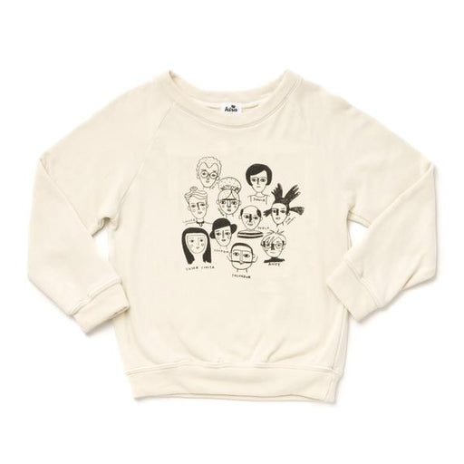 Artists in History Graphic Raglan Sweatshirt - Adult, Kira - Gingerly Witty