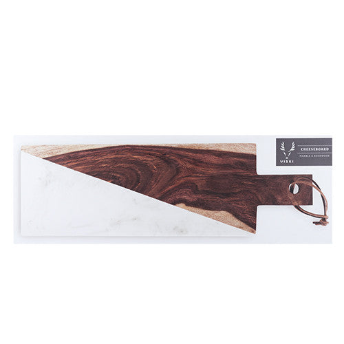 Marble and Indian Rosewood Cheese Board, Viski - Gingerly Witty