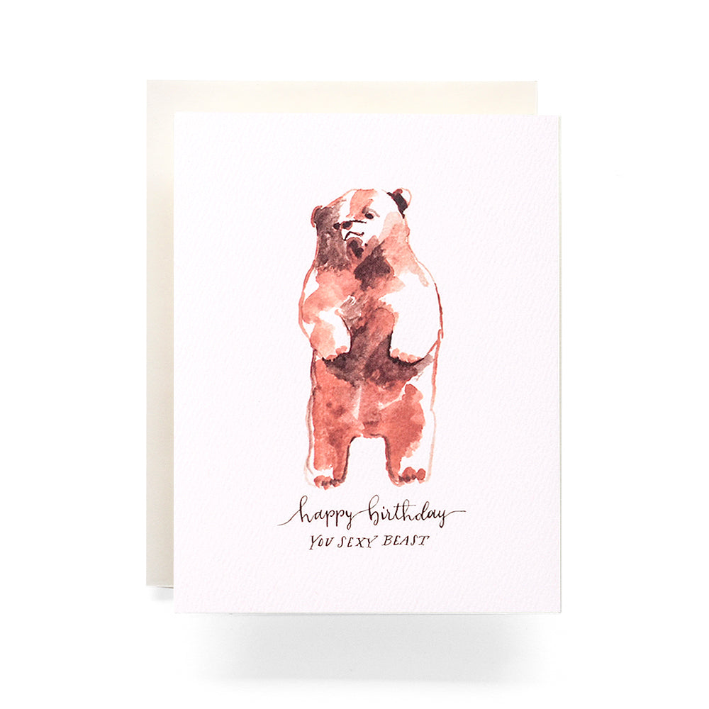 Sexy Beast Birthday Greeting Card; Antiquaria; Gingerly Witty