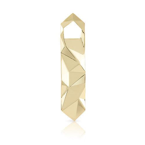 Faceted Gold Bottle Opener, Viski - Gingerly Witty