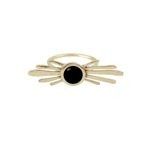 Double Burst Ring with Black Onyx, Therese Kuempel - Gingerly Witty