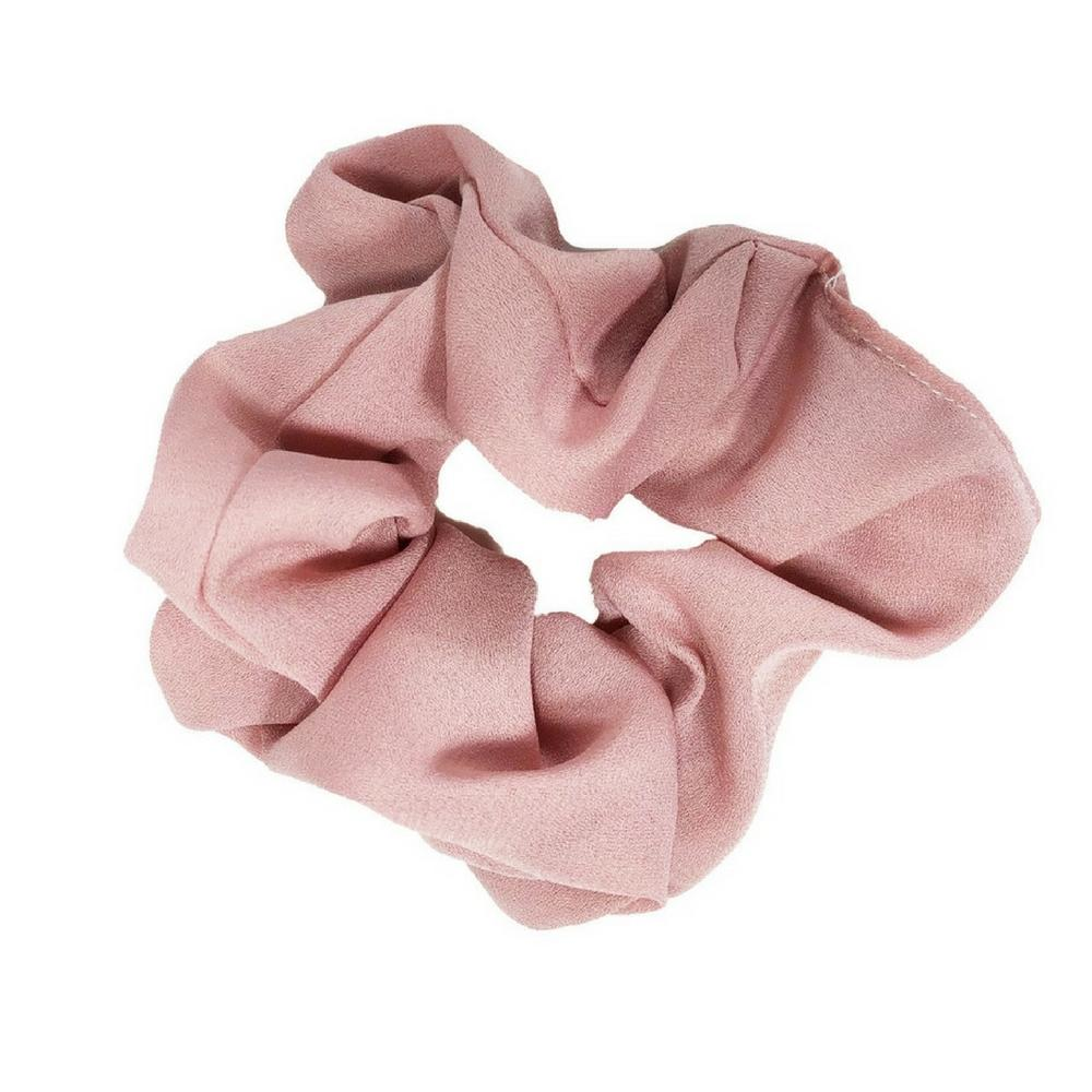 dusty pink mauve scrunchie