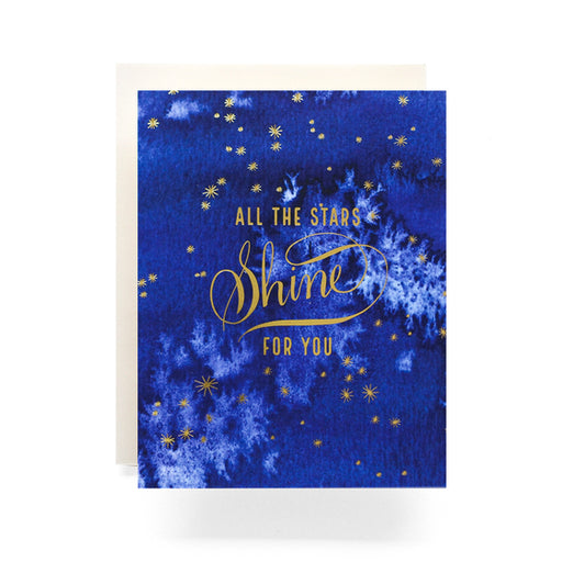 Indigo Stars Greeting Card, Antiquaria - Gingerly Witty