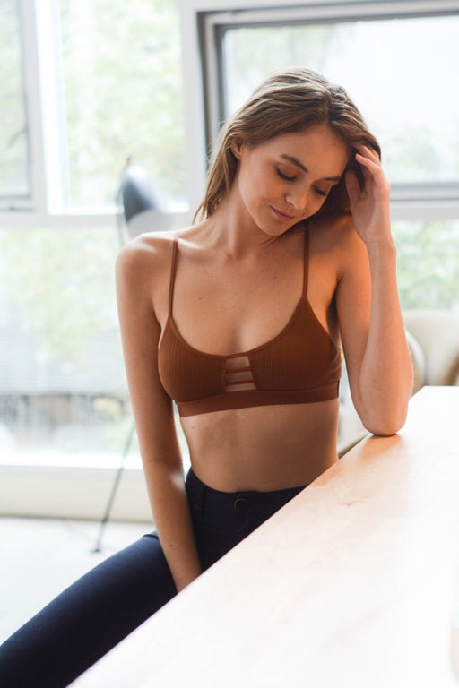 Horizontal Strap Bralette - Copper; Gingerly Witty