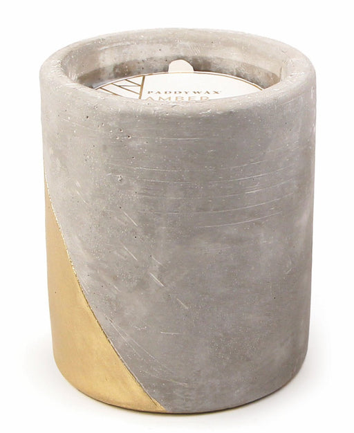 Amber & Smoke Concrete Candle - 12oz, Paddywax - Gingerly Witty