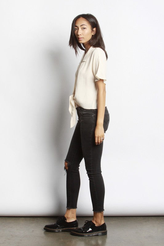 *PRE-ORDER* The Brenley Top - Cream, Mod Ref - Gingerly Witty
