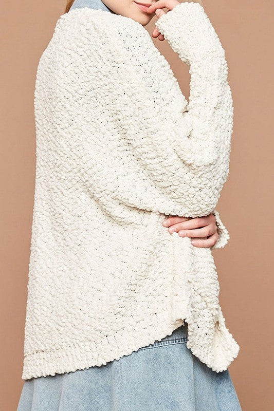 Fluffy AF Cardigan - Cream, AGP Apparel - Gingerly Witty