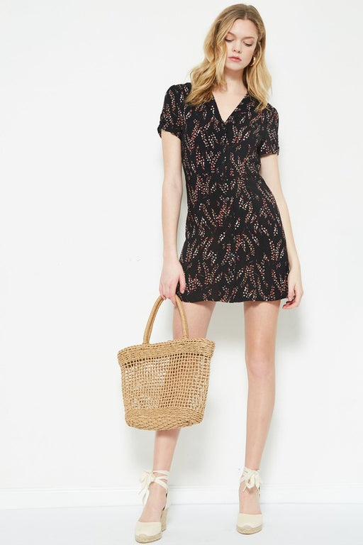 floral patterned woven mini dress; étophe studios; Gingerly Witty