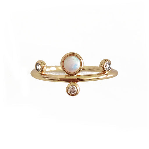 Femme Nouveau Dotted Gemstone Ring; Elizabeth Stone Jewelry; Gingerly Witty