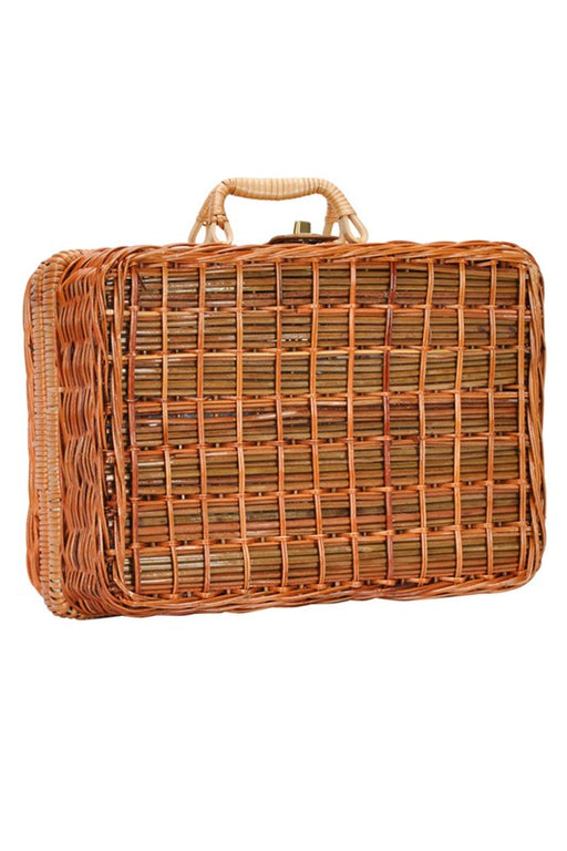 Picnic Basket Straw Bag - Natural; Gingerly Witty