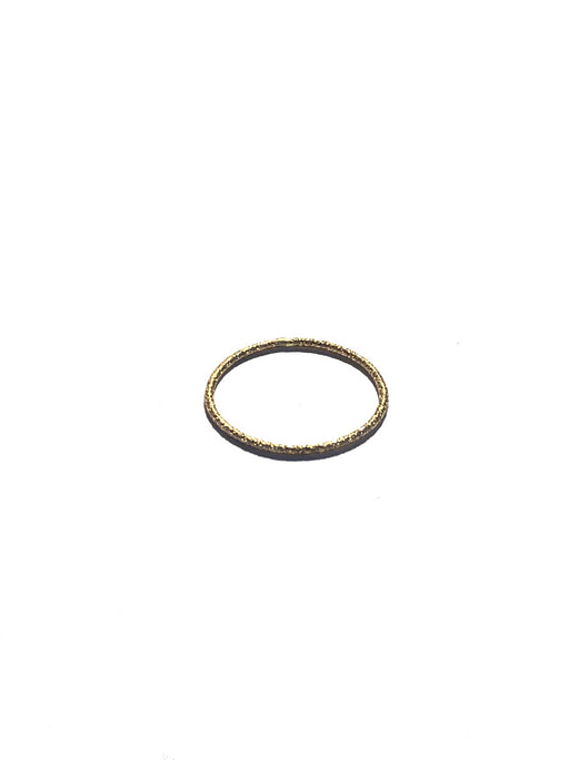 Faceted Stacking Ring - Gold, fashionABLE - Gingerly Witty