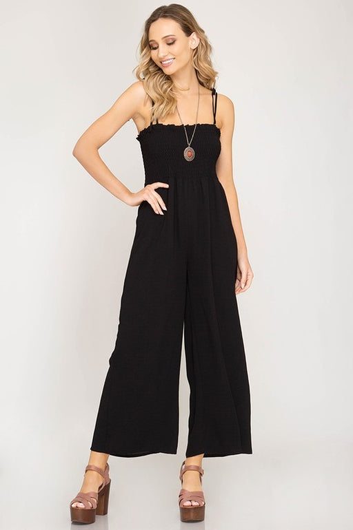 *PRE-ORDER* Smocked Tube Top Jumpsuit - Black, Trend Shop - Gingerly Witty