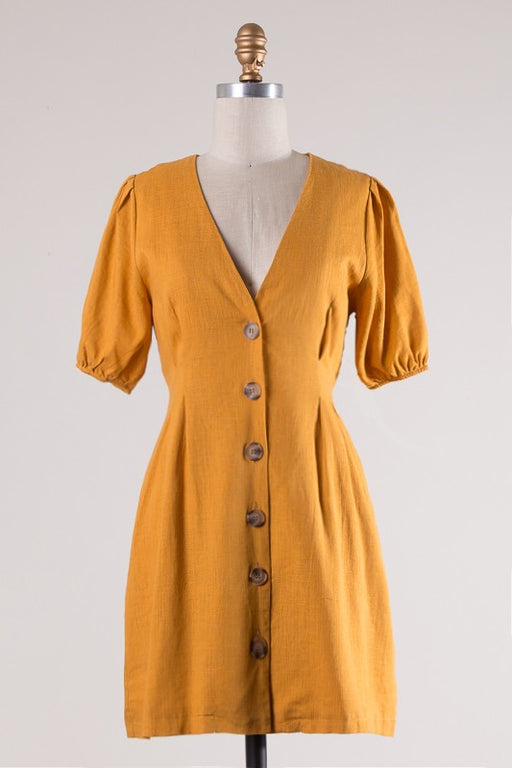 *PRE-ORDER* Mid-Day Latte Mini Dress - Tumeric, Fascination - Gingerly Witty