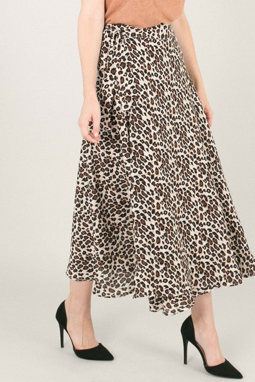 *PRE-ORDER* Leopard Love Midi Wrap Skirt - Leopard, Space 46 - Gingerly Witty