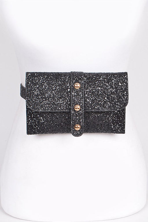 Flashy Fanny Pack - Black, Bag Boutique - Gingerly Witty
