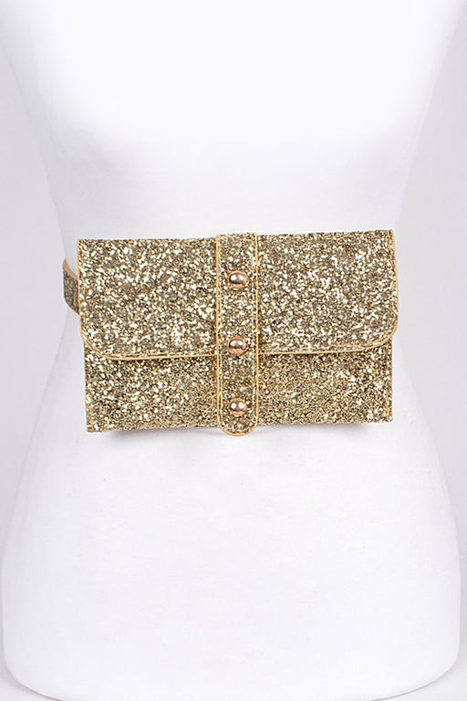 Flashy Fanny Pack - Gold, Bag Boutique - Gingerly Witty