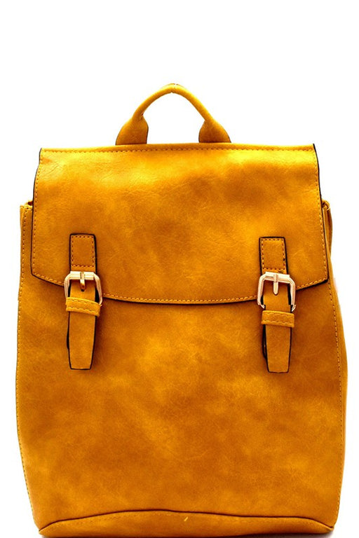 *PRE-ORDER* Vegan Leather Convertible Backpack - Mustard, Bag Boutique - Gingerly Witty