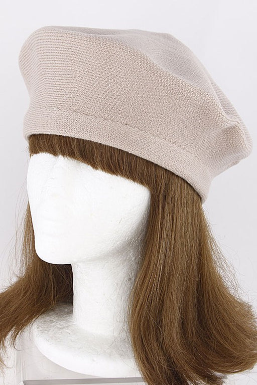 Marin Beret - Taupe; Gingerly Witty