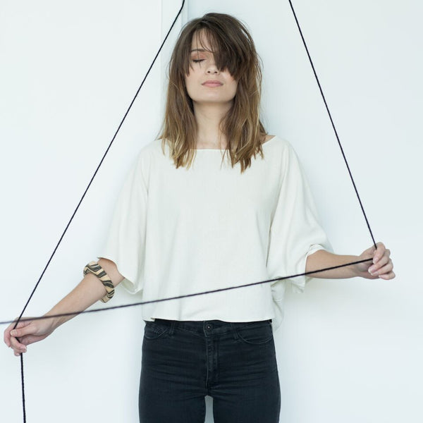 Blank Canvas Top - Natural, Jamie + The Jones - Gingerly Witty