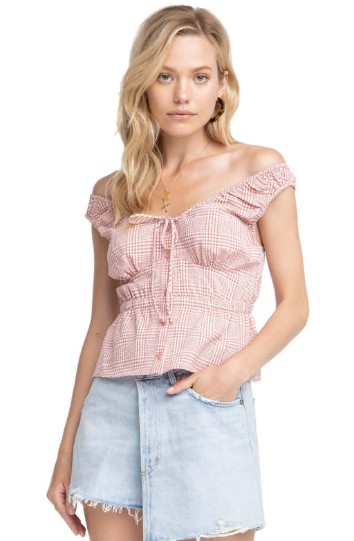 *PRE-ORDER* Caden Top - Brick and White, ASTR - Gingerly Witty