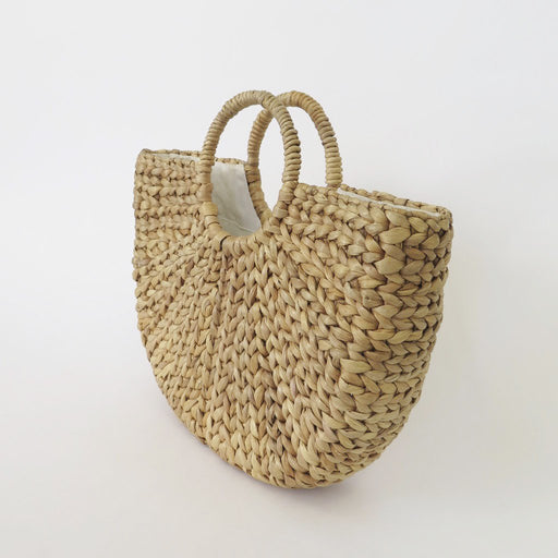 Classic Braided Straw Bag - Natural; The Legra; Gingerly WItty