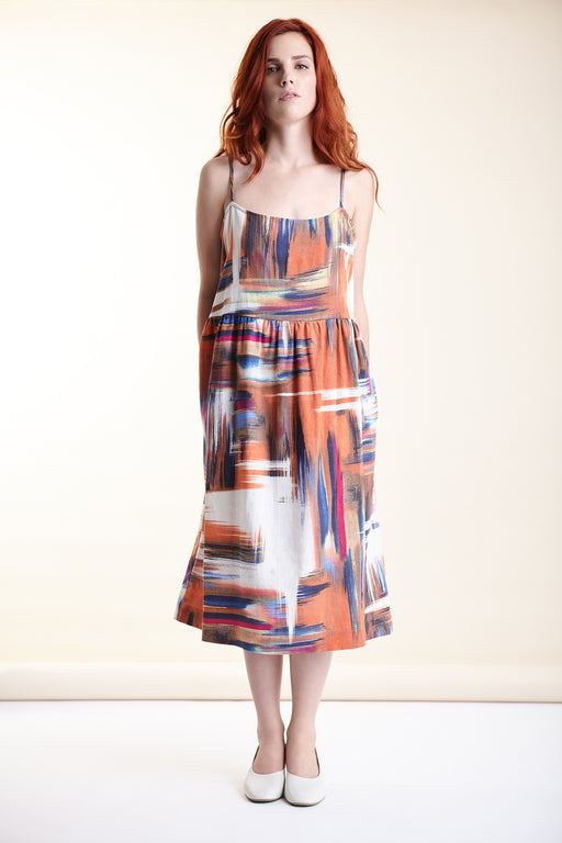 Anja Dress - Abstract Print, Amanda Moss - Gingerly Witty