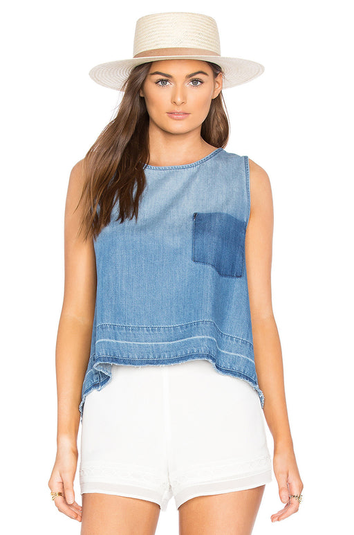 Chambray Crossback Tank, Bella Dahl - Gingerly Witty