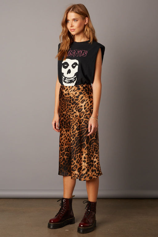 "The ""It"" Leopard Print Midi Skirt - Brown; Cotton Candy LA; Gingerly Witty"