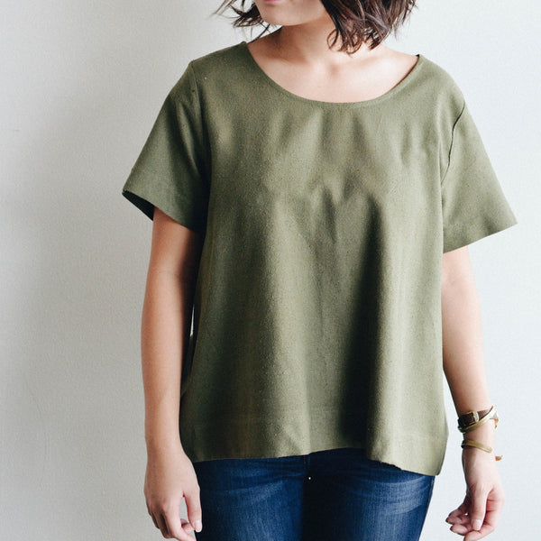 The Staple Basic Tee - Olive, Jamie + The Jones - Gingerly Witty