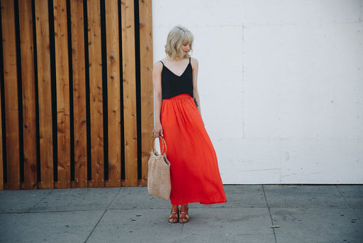 Mar Maxi Skirt - Red, Pepaloves - Gingerly Witty