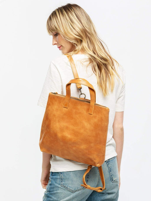 Abera Convertible Backpack - Cognac, fashionABLE - Gingerly Witty