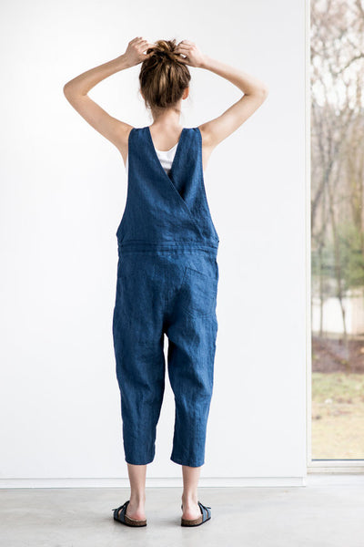 Farmer's Market Loose Linen Jumpsuit, Not Perfect Linen - Gingerly Witty
