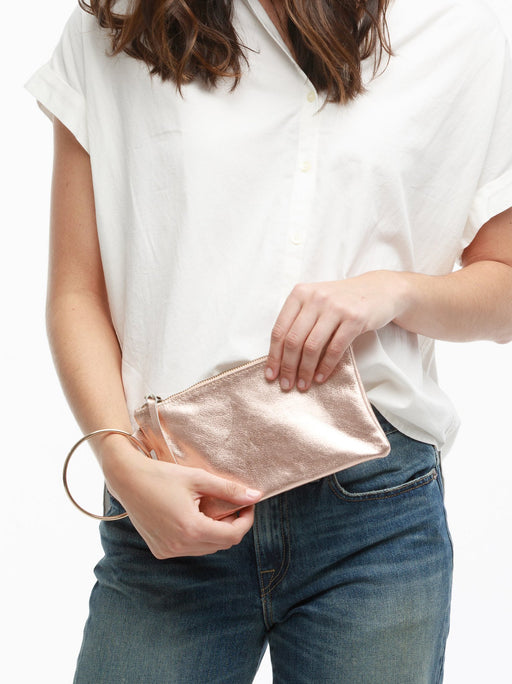Fozi Wristlet - Rose Metallic, fashionABLE - Gingerly Witty