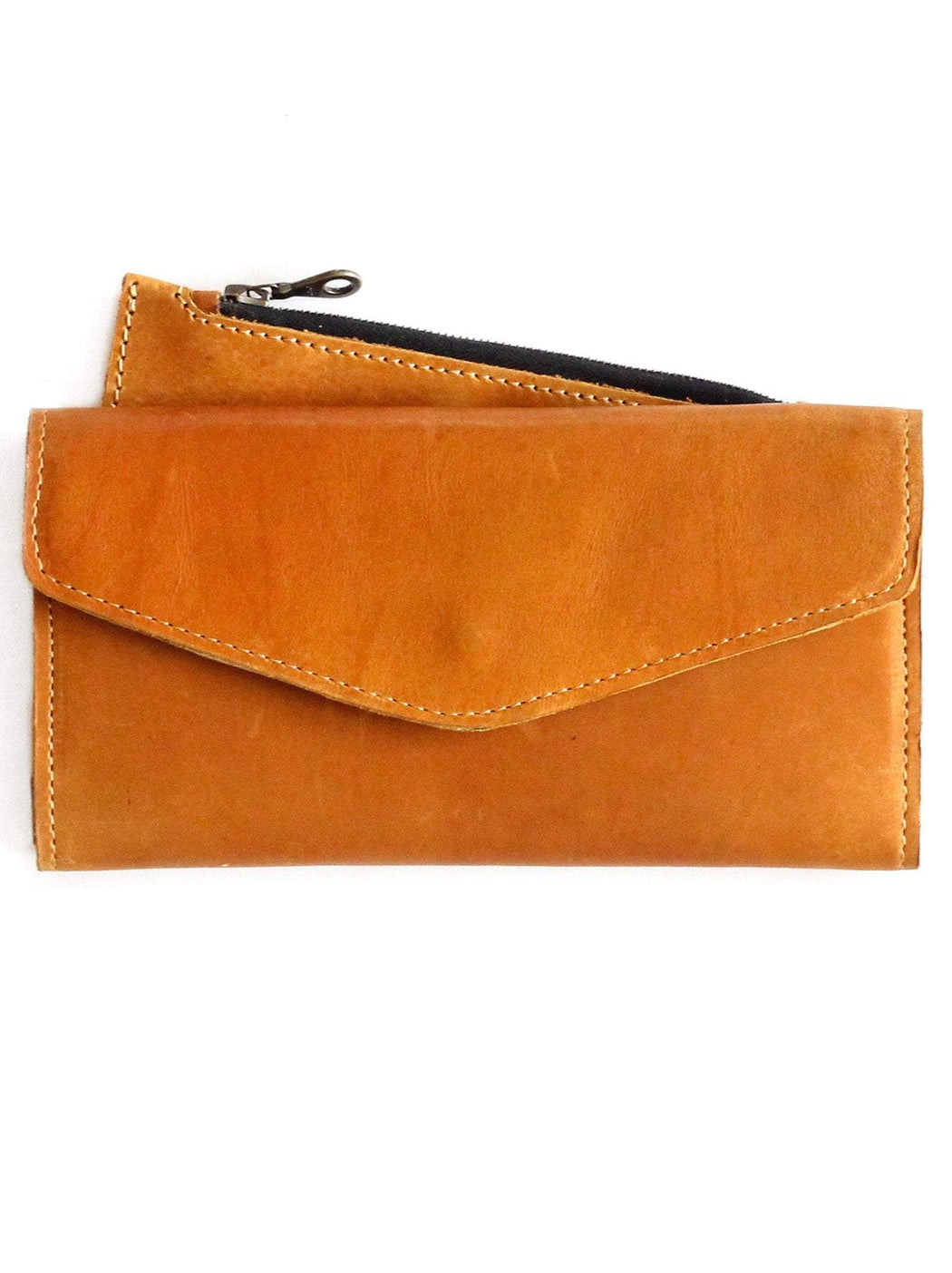 Hailu Leather Wallet - Cognac, fashionABLE - Gingerly Witty