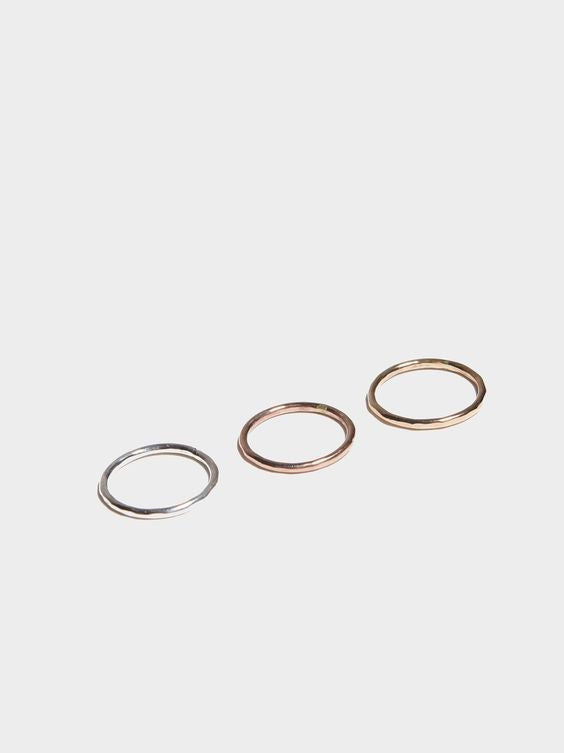 Hammered Stacking Ring, fashionABLE - Gingerly Witty