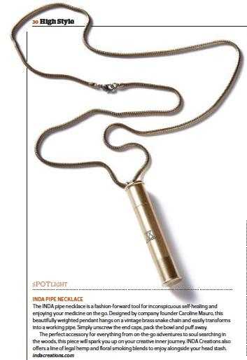 INDA Pipe Necklace, INDA Creations - Gingerly Witty