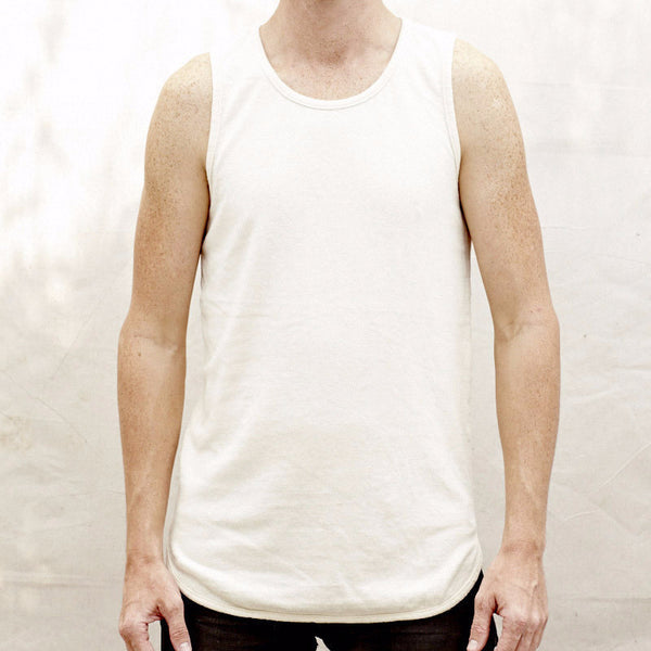 10oz Tank Top - Unisex - White, JungMaven - Gingerly Witty