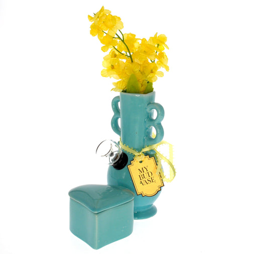 Bud Vase Water Pipe - Teal; Lady Humps; My Bud Vase; Gingerly Witty