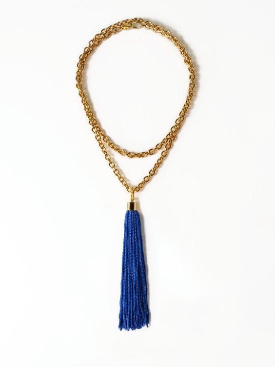 Long Tassel Necklace – Layered Chain, Reason to be Pretty - Gingerly Witty