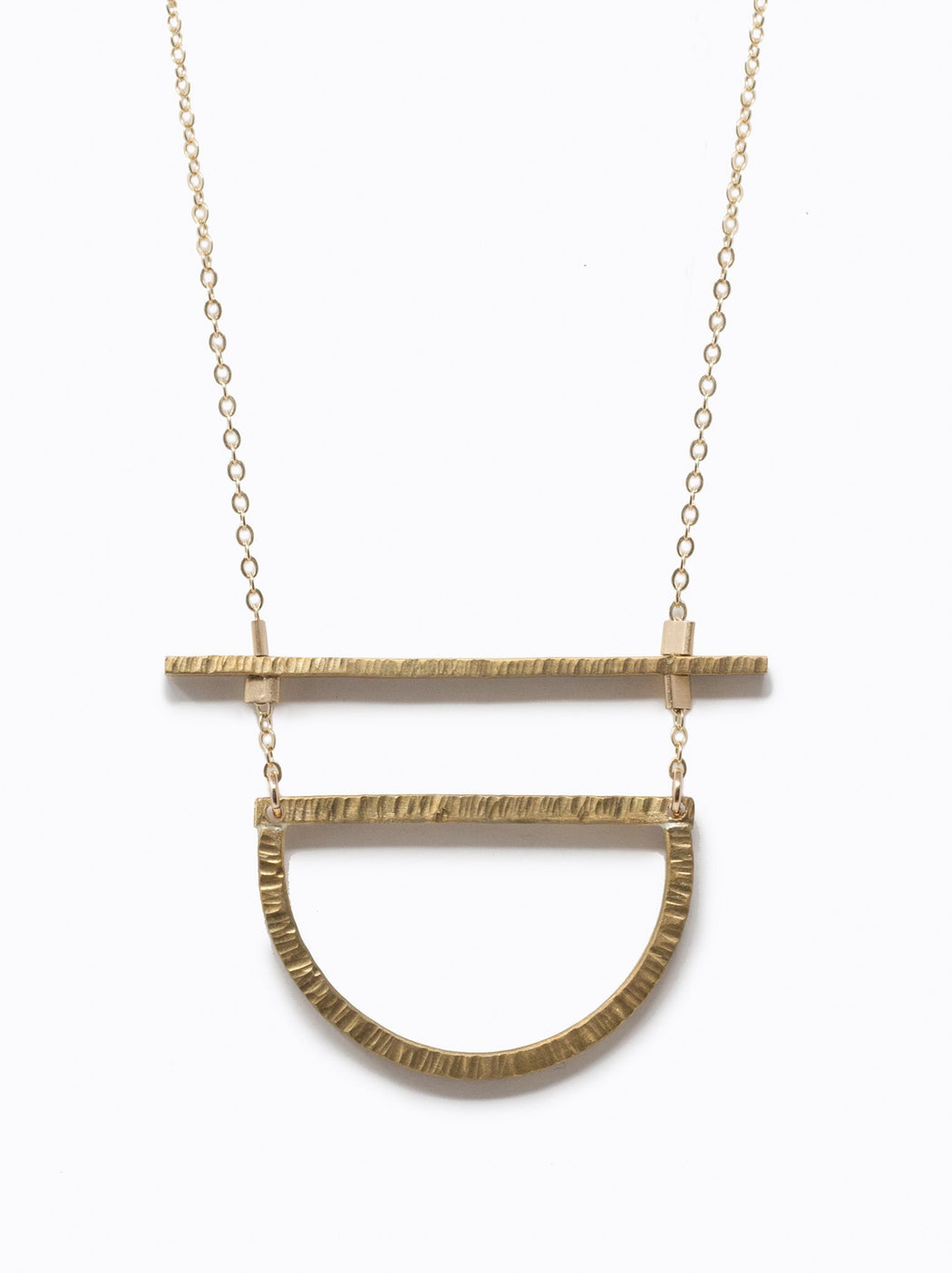 *PRE-ORDER* Manifesto Necklace - Gold/Brass, fashionABLE - Gingerly Witty