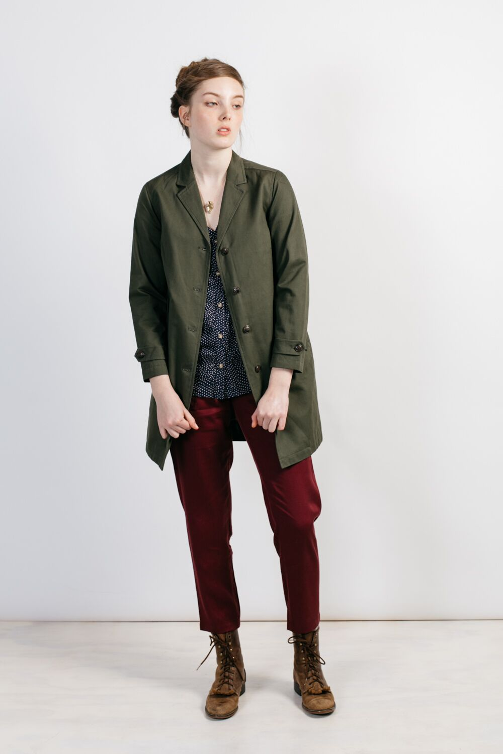 Ansdell Duster - Olive, Bridge & Burn - Gingerly Witty