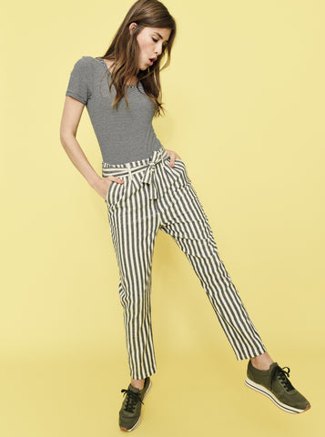 NUMPH  Mabil Striped Trousers; striped pants
