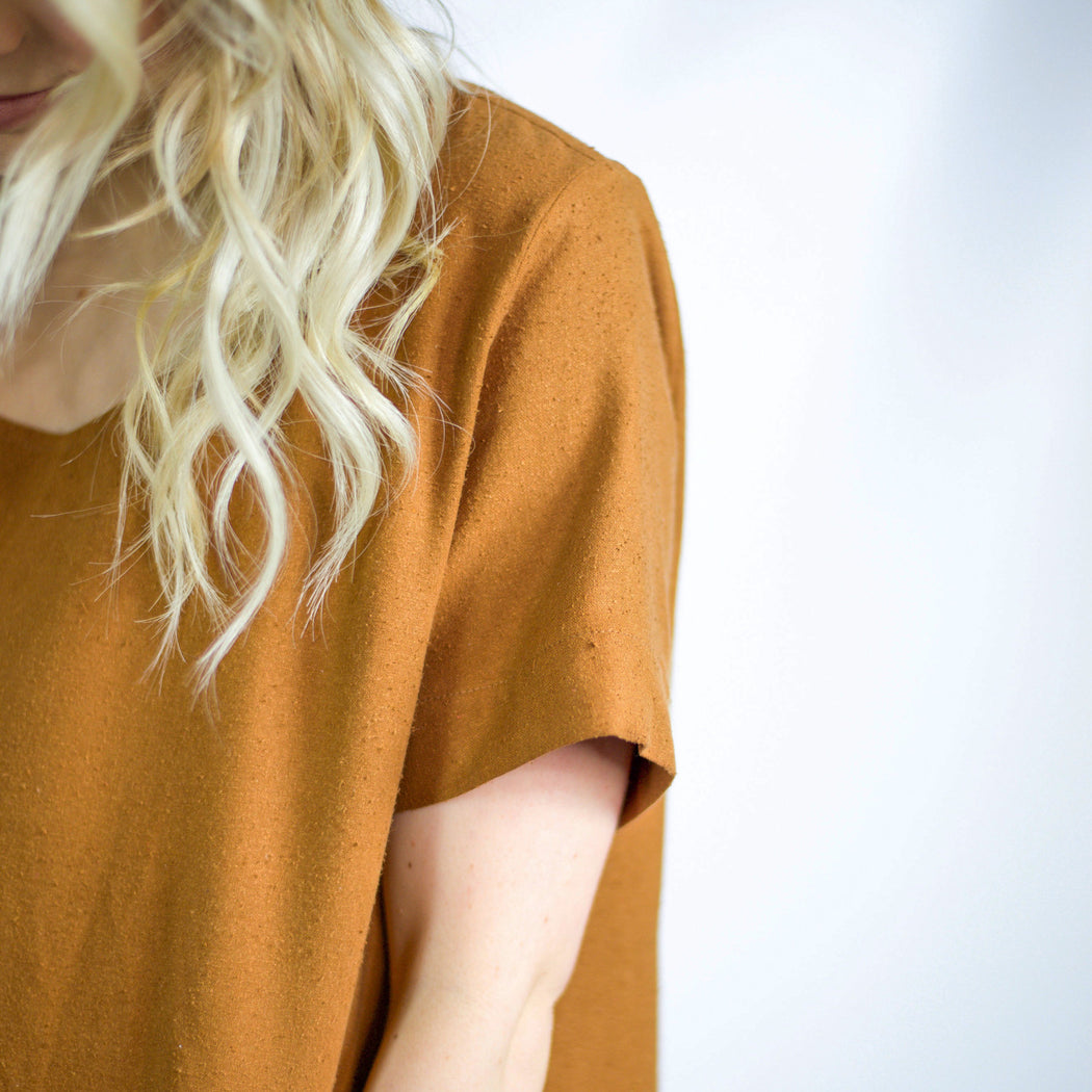 The Staple Basic Dress - Umber, Jamie + The Jones - Gingerly Witty