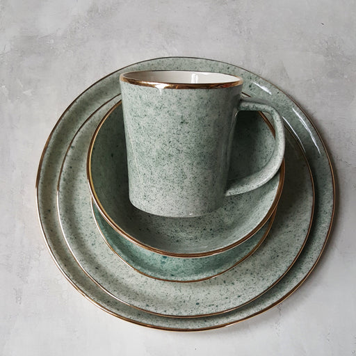 Dew Collection Mug  - Grey on White (Moss); Apricity Ceramics; Gingerly Witty