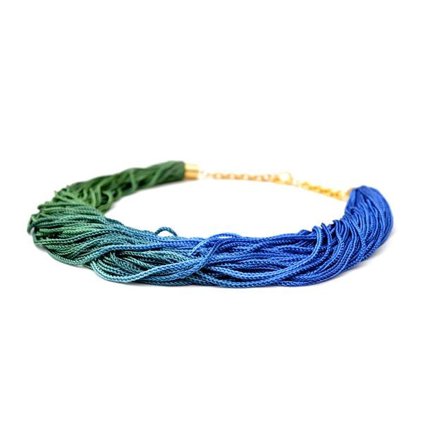 Blue-Green Ombre Choker, Reason to be Pretty - Gingerly Witty
