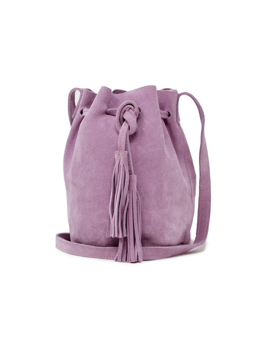 Maria Bucket Bag - Lilac Suede; ABLE; Gingerly Witty
