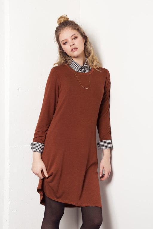 Sweater Dress - Cognac Meemoza Gingerly Witty