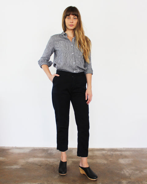 Sam Relaxed Cropped Pant, Esby - Gingerly Witty